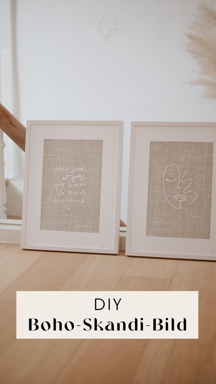 DIY Lettering im Scandi-Boho Stil