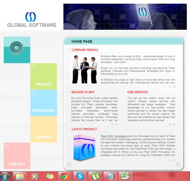 flash website templates