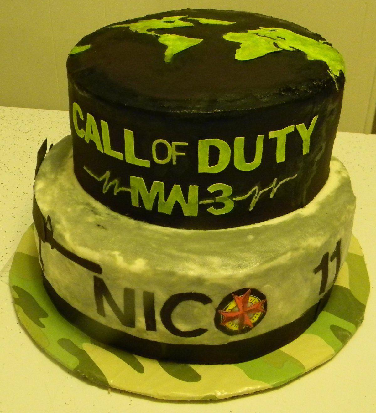 call of duty birthday cakes Call of Duty Modern Warfare 3 cake