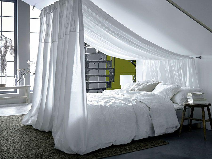 Arredare Mansarda Ikea 25 Idee Per Diversi Ambienti Mondodesign It Camera Da Letto Mansarda Lenzuola Bianche Stanza Da Letto Mansarda
