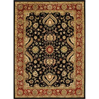 Handmade Black New Zealand Wool Rug (10' x 14') - Overstock™ Shopping - Great Deals on Alliyah Rugs 7x9 - 10x14 Rugs
