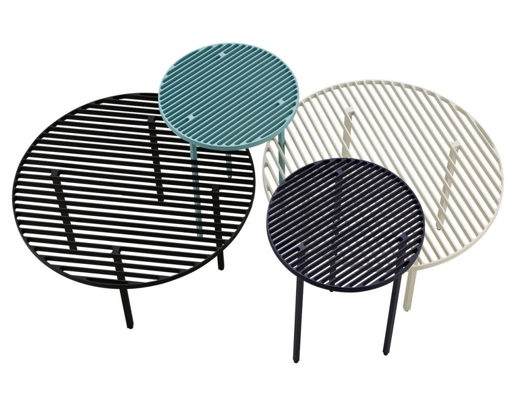 Grid tables outofstock bolia 2 low table aluminum for Mobili danesi