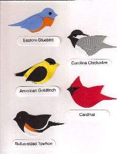 many different punch art birds