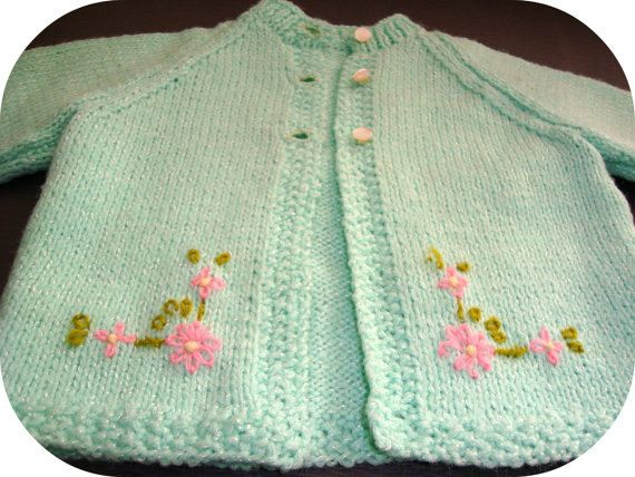5f60bda1c Vintage Baby Knit Cardigan (0 3 months)