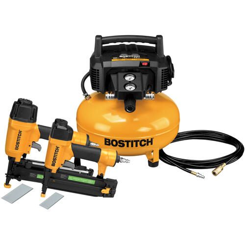 Bostitch 2 Tool Compressor Combo Kit At Menards Combo Kit Portable Air Compressor Electric Air Compressor