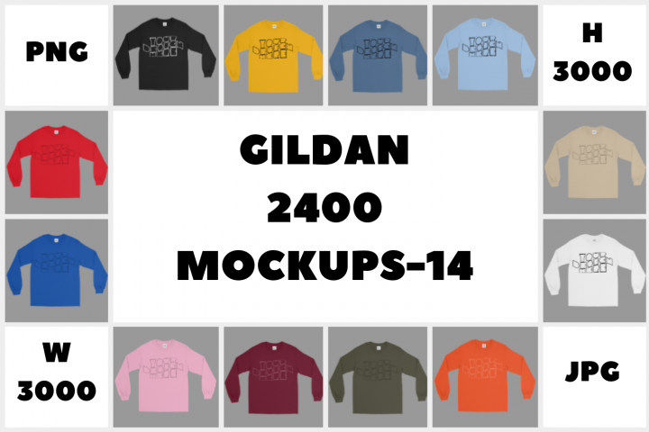 Download Mega Bundle Gildan 2400 Long Sleeve T Shirt Mockups 14 Png 176711 Mockups Design Bundles Design Mockup Free Tshirt Mockup Psd Mockup Template