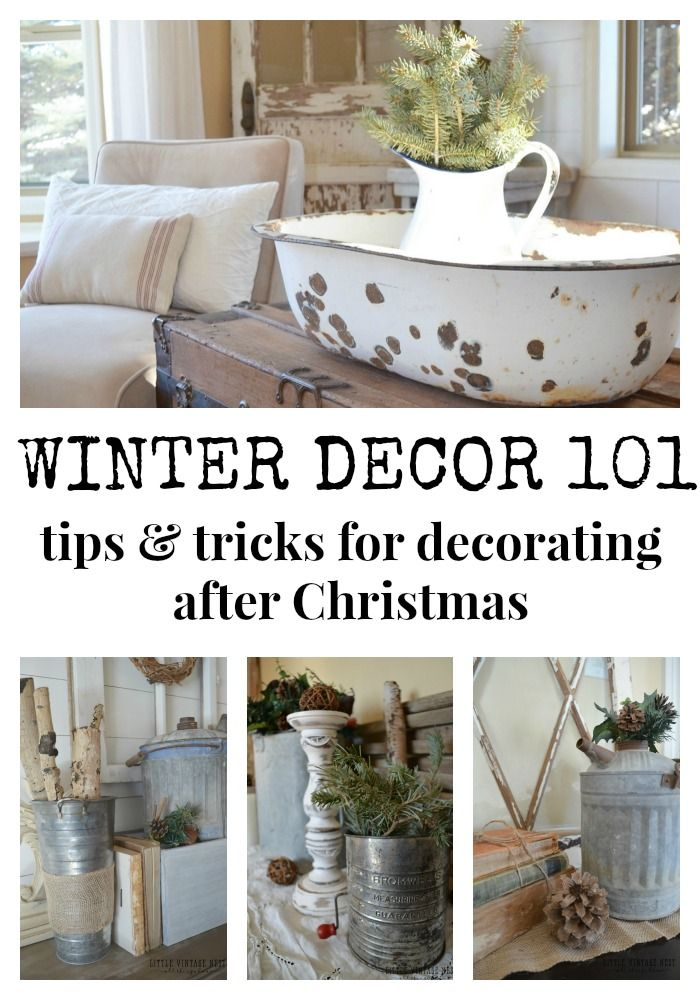 Winter Decor 101 & Blog Hop - Sarah Joy Blog #winterdecor