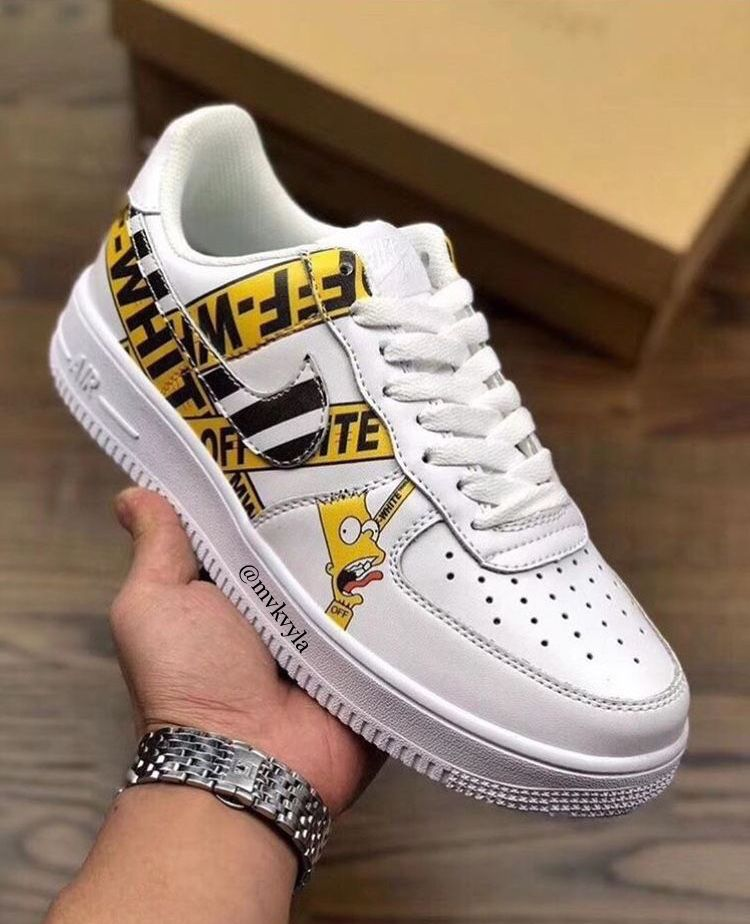 outlet store 48b20 2d8c1 Off White Trainers, Nike Custom Shoes, Custom Sneakers, Custom Air Force 1,