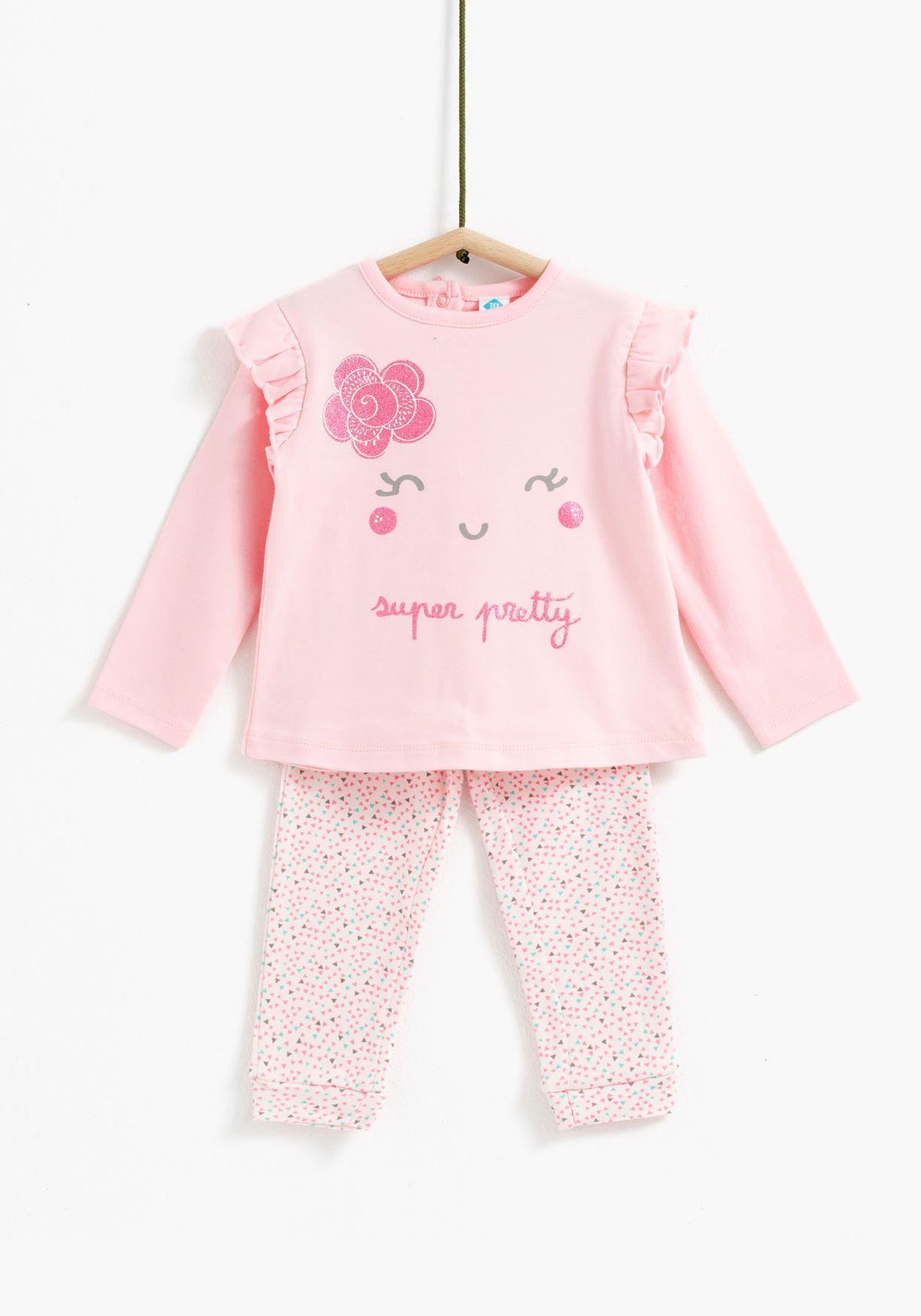 Pijama De Dos Piezas Tex Ropa Bebe Nina Moda De Bebes Nina Y