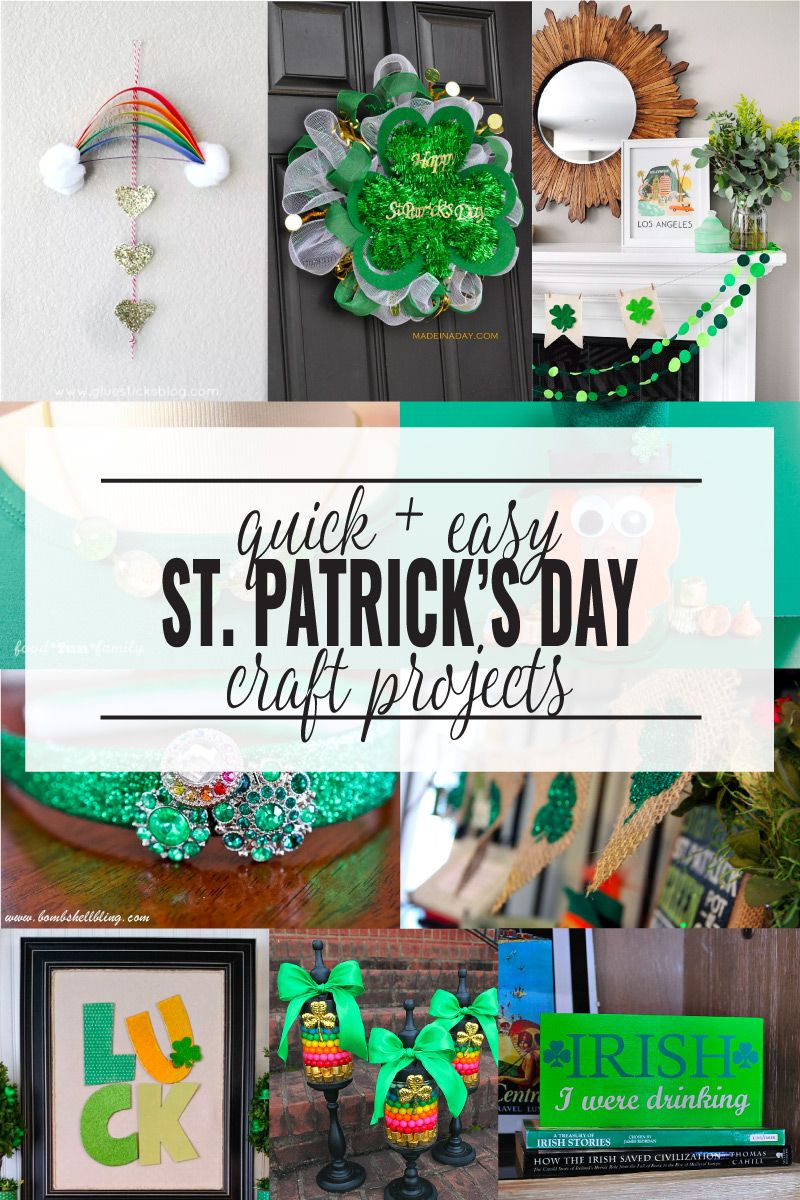 Fun and simple crafts you can make for st patricks day