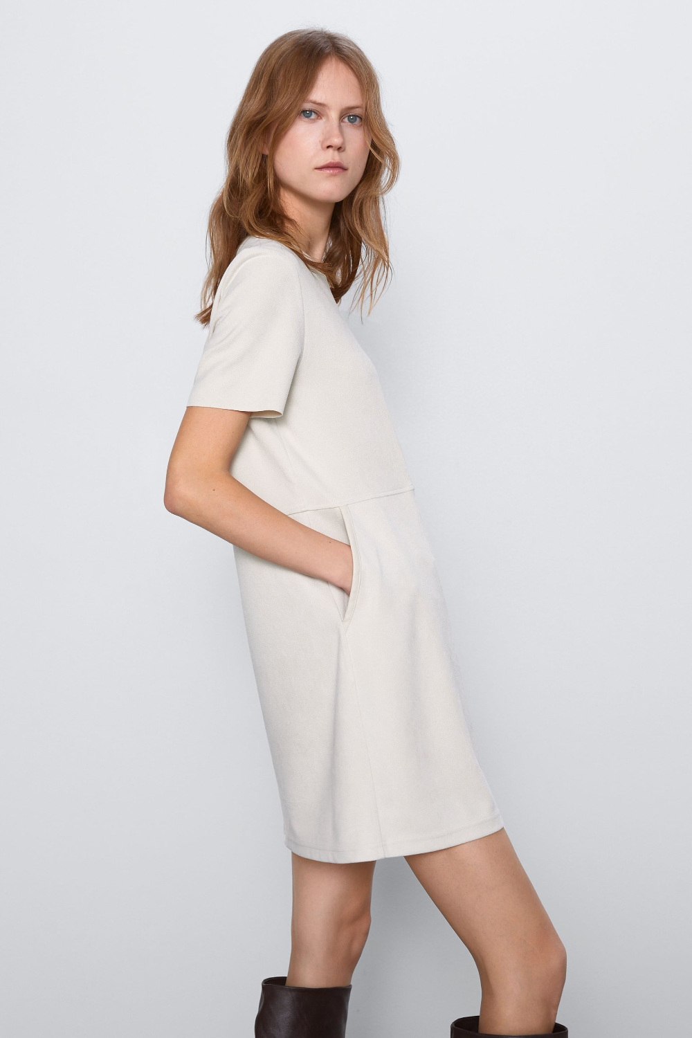 FAUX SUEDE DRESS ZARA France nel 2020