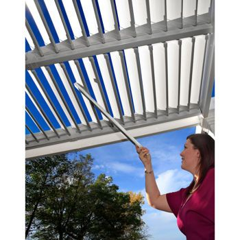 10 Ft X 10 Ft Adjustable Louver Pergola Costco Vinyl Pergola Louvered Pergola New England Arbors