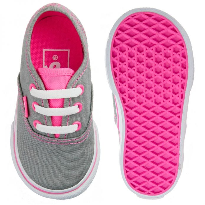 VANS Authentic frost grey and neon pink | Baby Fashion | Pinterest | Inspiration