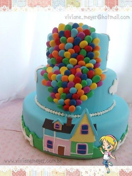 bolo falso festa Up altas aventuras
