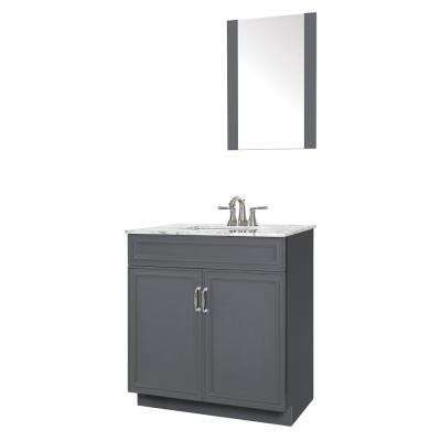 Colette 30 in. W x 19 in. D Bath Vanity in Gray with ...