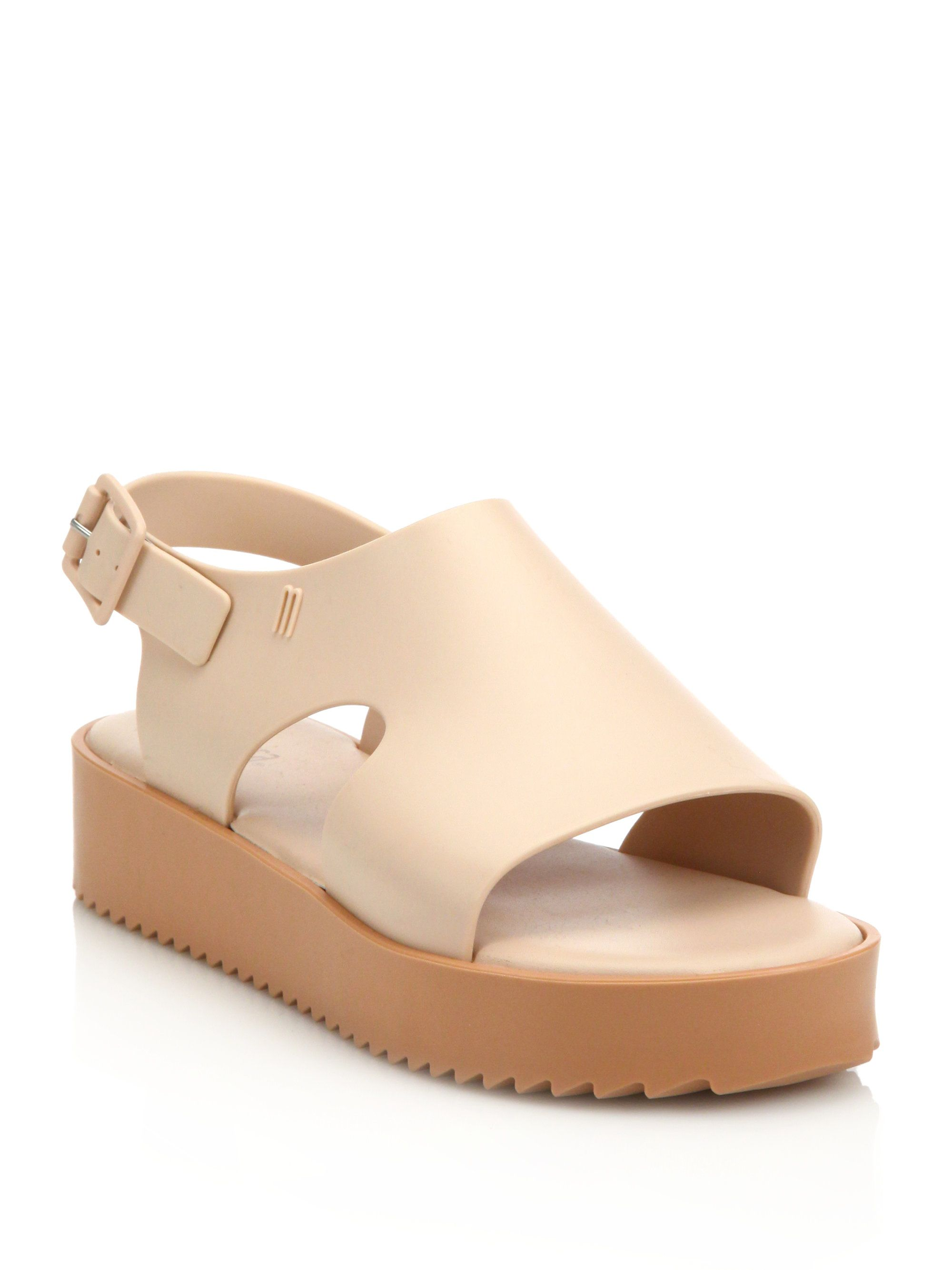 dff5f00eae525 Melissa Hotness Platform Wedge Sandals in Pink