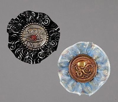 Ribbon Rosette Hair Clip by DrDarkwaxSteampunk on Etsy