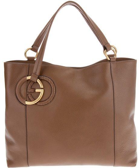 1faa6fa7440 Gucci - Brown Leather Tote Bag