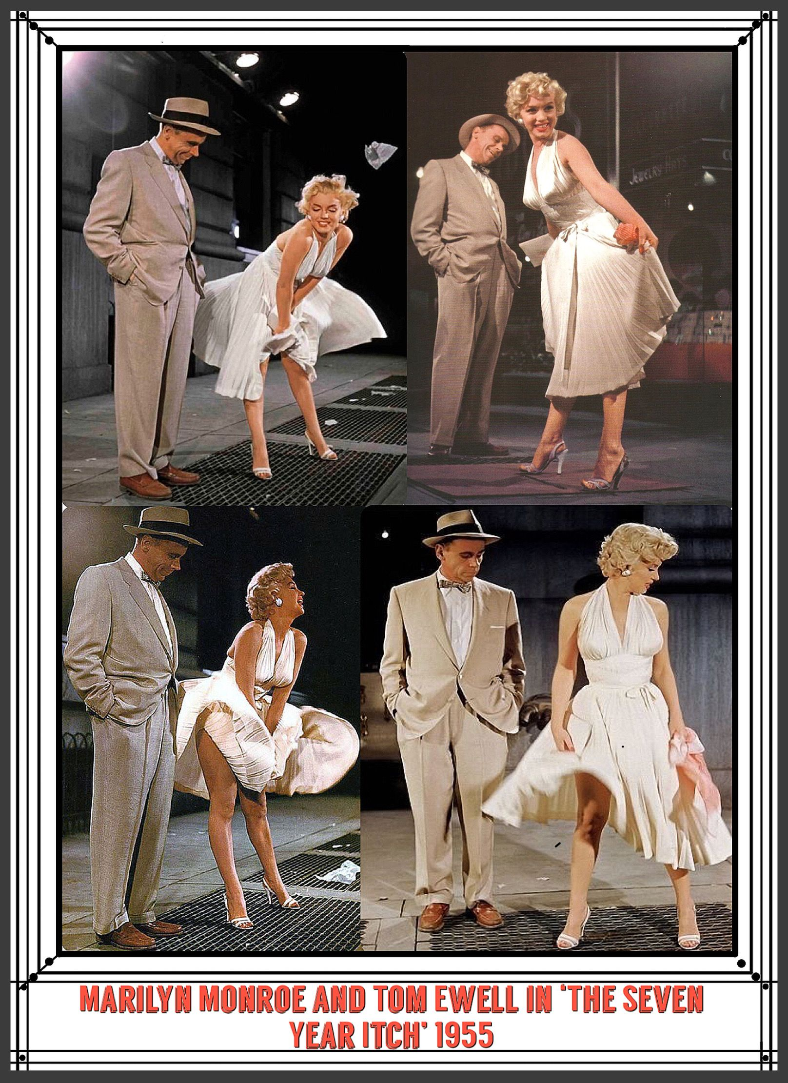 MARILYN MONROE 7 YEAR ITCH ONtheSET 2xRARE4x6 PHOTOS