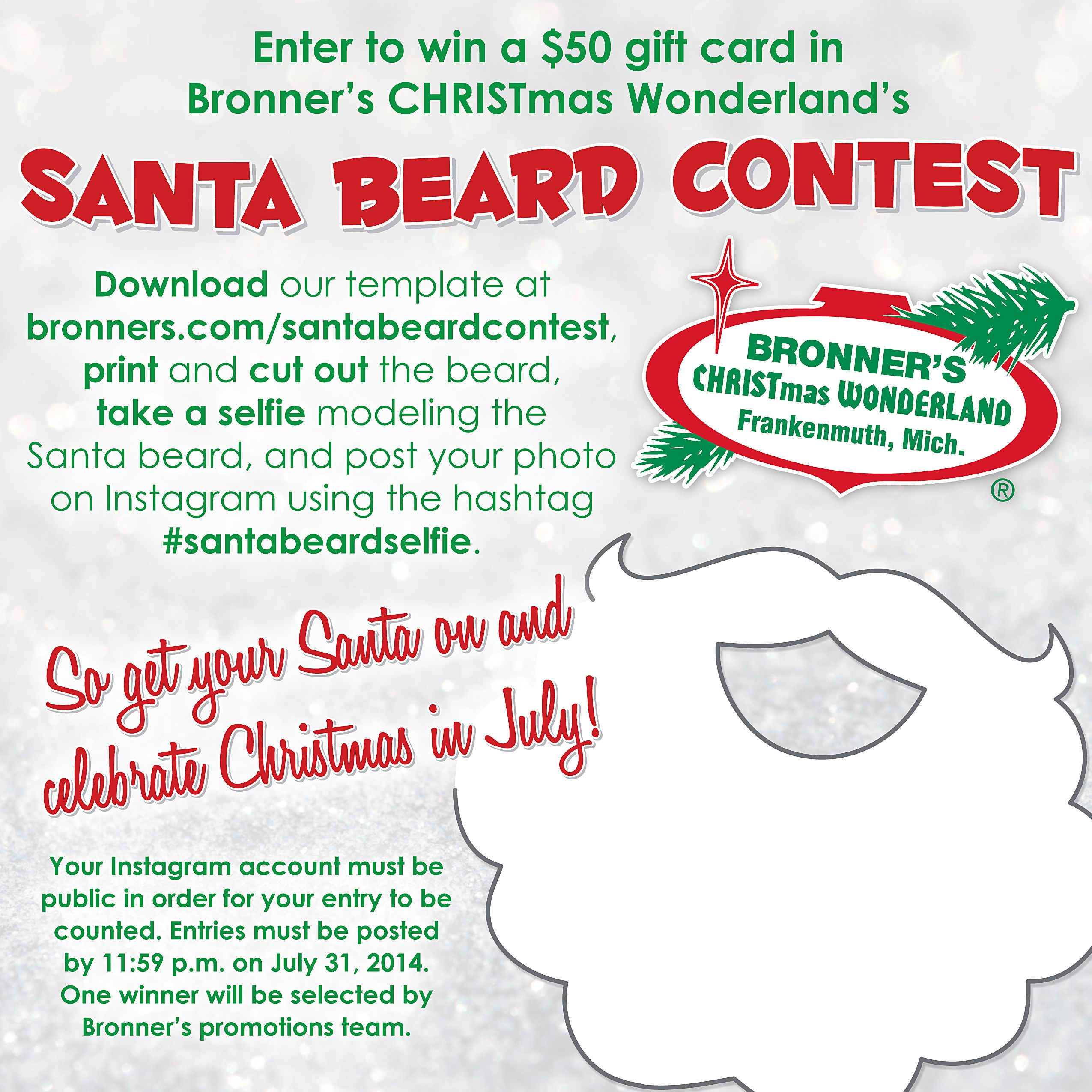 Enter our Santa Beard Contest for your chance to win a $50 gift ...
