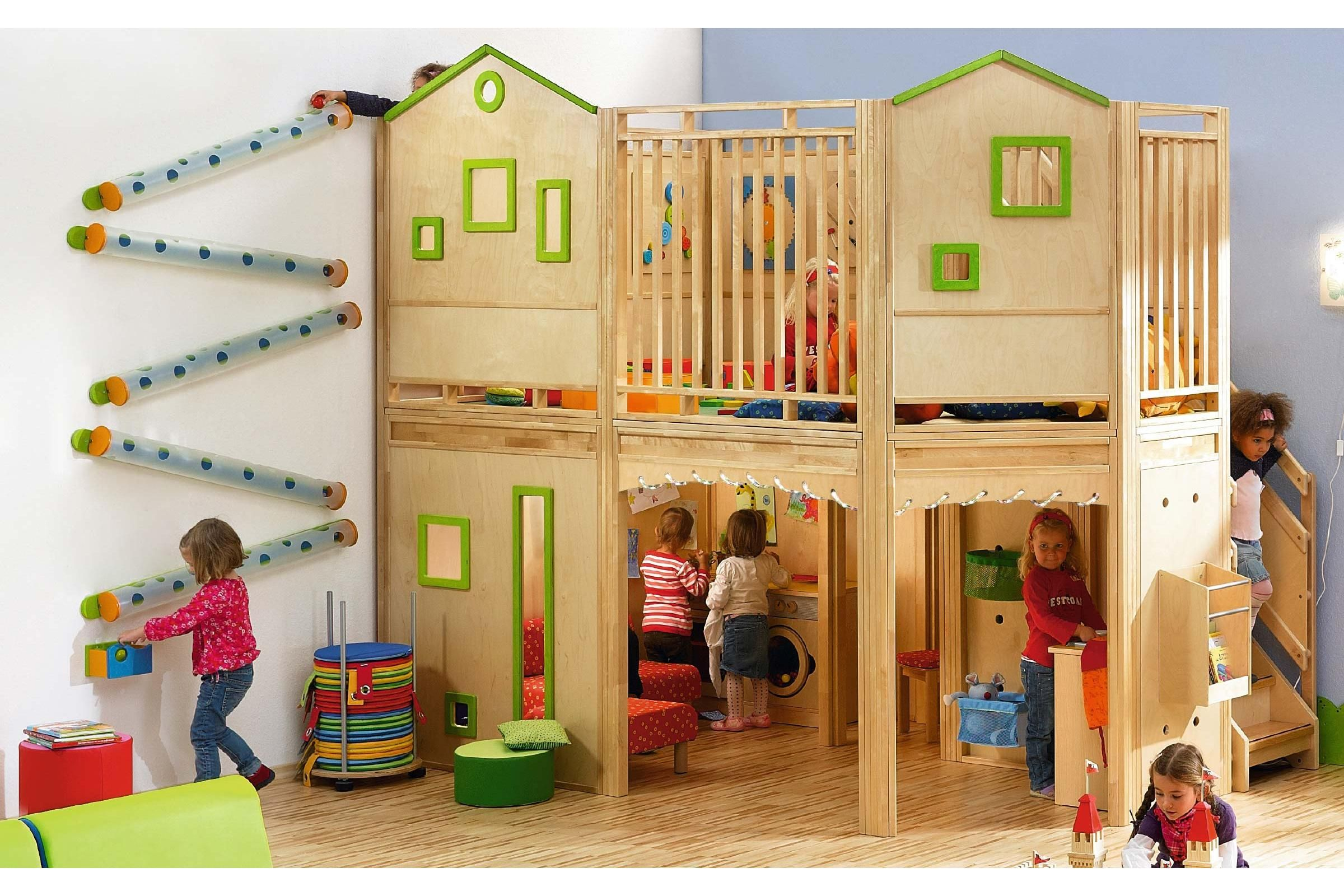 Villa Preschool Modular Activity Play Loft Learning Spaces Global Lsg Furniture Indoor Play Areas Play Houses Indoor Play