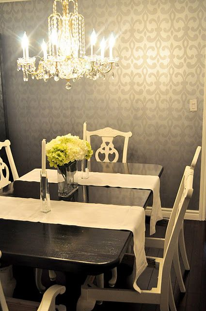 Fabulous walpaper...but even the room idea is cute. paint the walls ...
