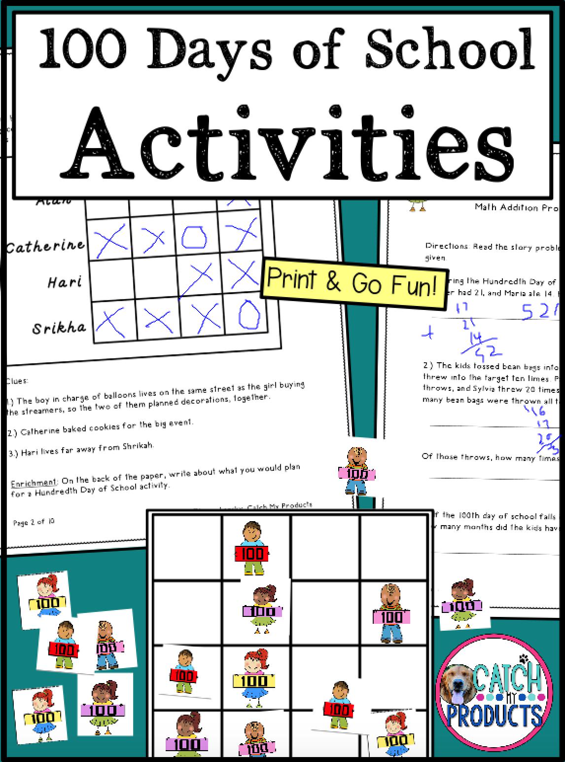 100th Day Of School Activities 2nd Grade