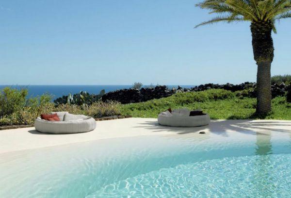101 Bilder Von Pool Im Garten   Modern Swimming Pools Strand Ozean