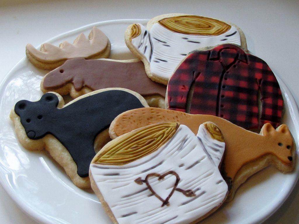 Muskoka themed shortbread cookies