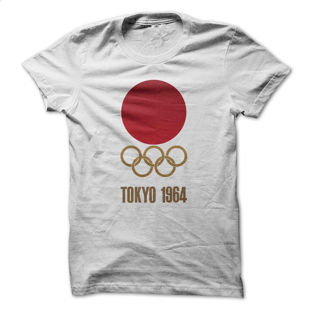 Design shirt japan - Japan Retro Tokyo Olympics 1964 T Shirts Hoodies Sweatshirts Womens Striped