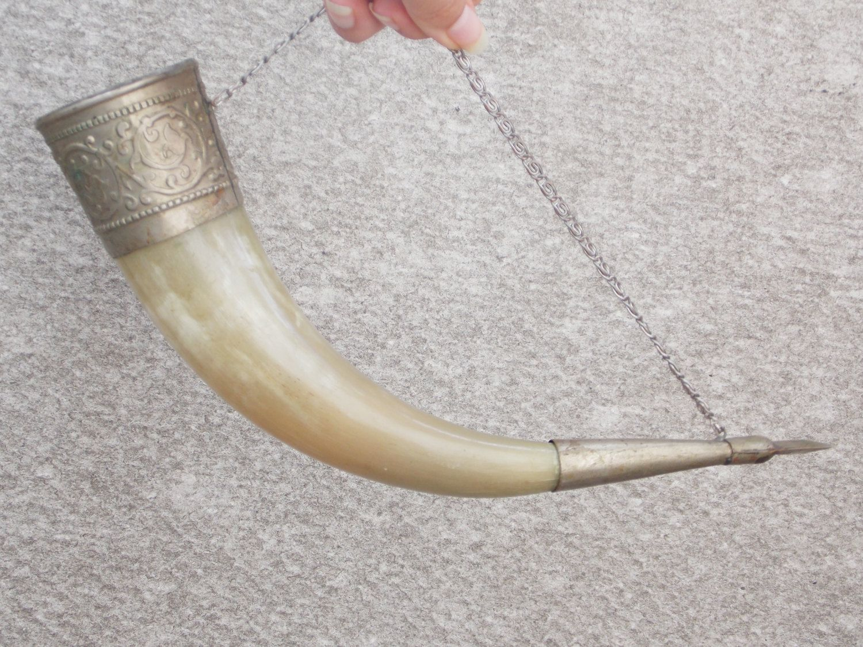 drinking horn viking war american style alcohol cup room wall decor natural mug