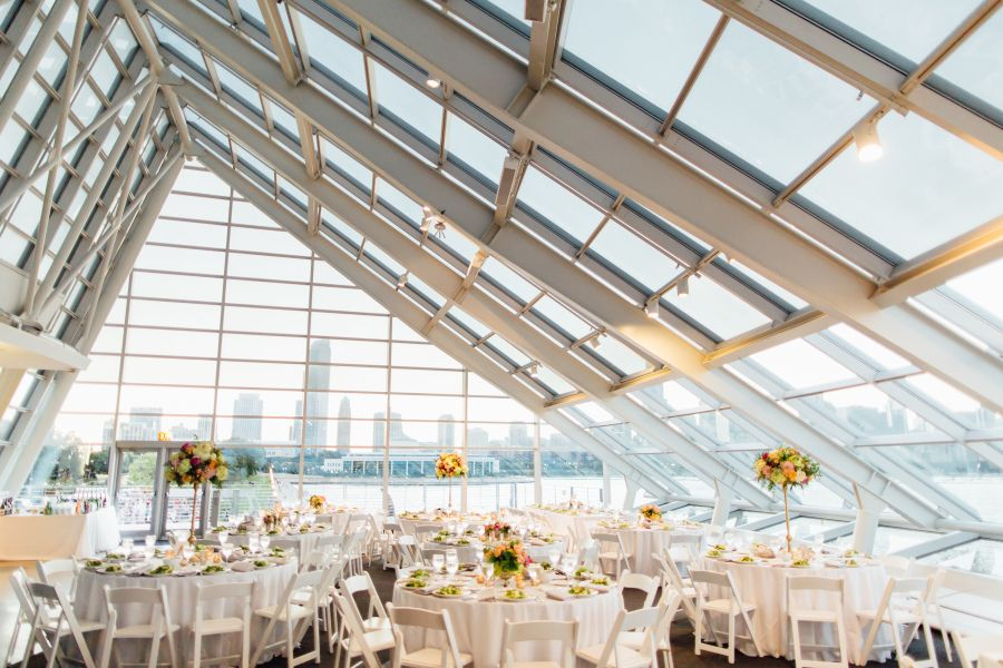 Views + A Beaming Bride Fight Off Wedding Day