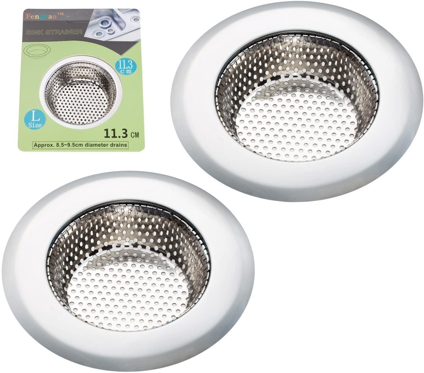 Price 8 49 Top Fengbao 2pcs Kitchen Sink Strainer Stainless Steel Large Wide Rim 4 5 Diameter In 2020 Kitchen Sink Strainer Sink Strainer Sink Strainers