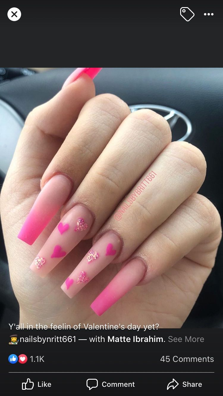 Pin By Mildred Harris On Nails February Nails Ombre Acrylic Nails Dream Nails