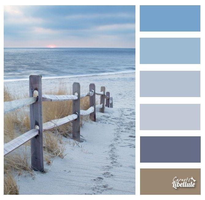 Nuancier palette de couleurs cahier de styles - Deco bord de mer salon ...