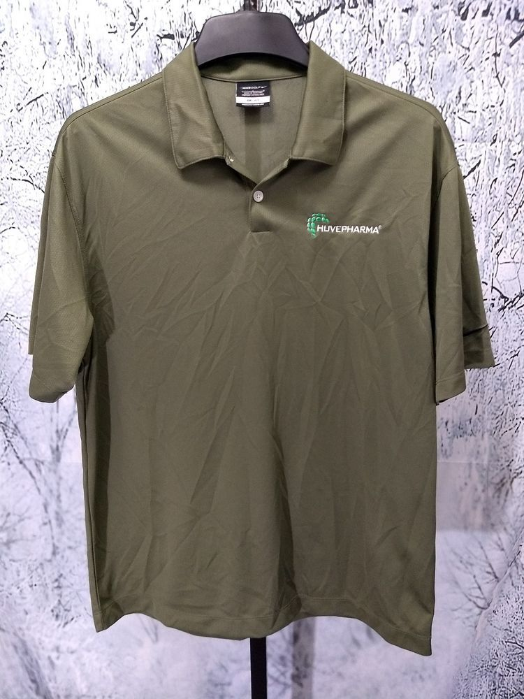 fb4a35e17199 Huvepharma Nike Golf Men s Large Green Polo Shirt Pharmaceutical Employee  Work  fashion  clothing  shoes  accessories  mensclothing  shirts (ebay  link)