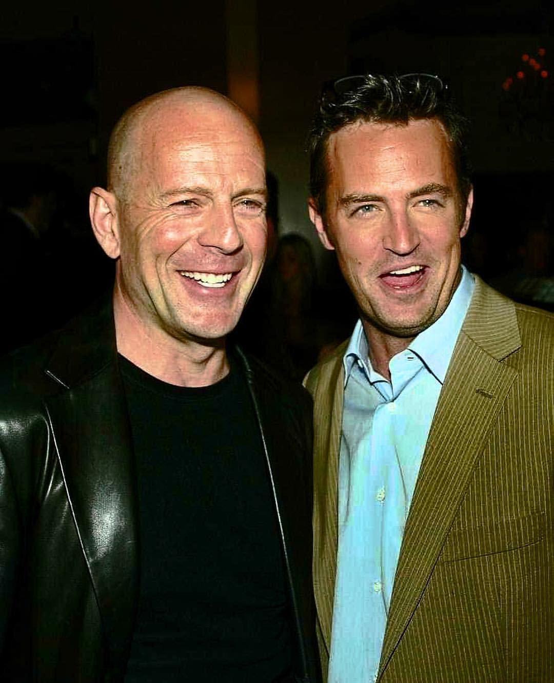 Matthew with Bruce Willis #matthewperry #brucewillis ...