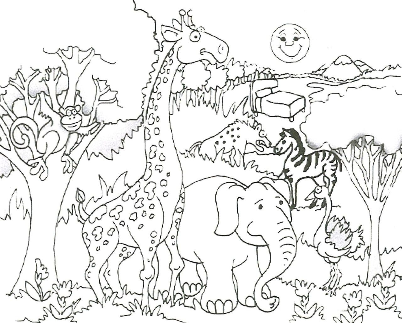 Cute Animal Coloring Pages Jungle Coloring Pages Cute Coloring