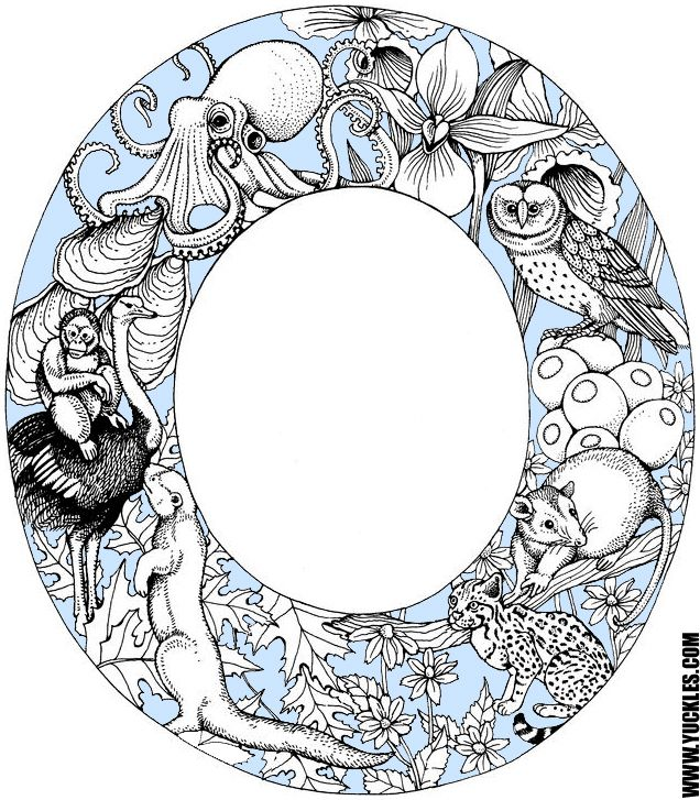 Letter O Coloring Page By Yuckles Animal Coloring Pages Alphabet Coloring Pages Coloring Letters