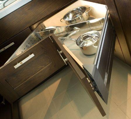 armoires de cuisine tendances concept tiroir en coin. Black Bedroom Furniture Sets. Home Design Ideas