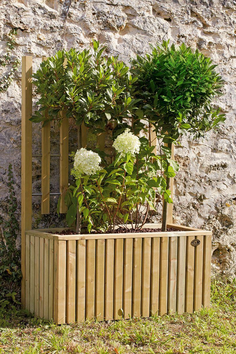 un bac avec treillage pour les plantes grimpantes jardins communautaires garden planters et. Black Bedroom Furniture Sets. Home Design Ideas