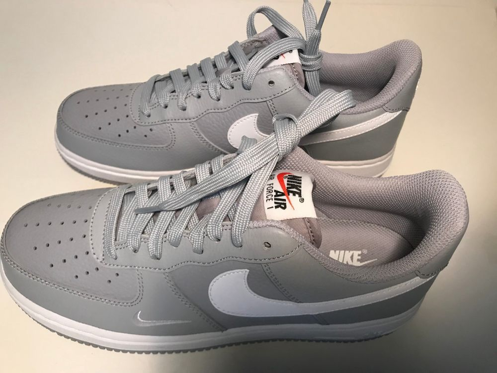 best service 4ec72 ee2af Nike Air Force 1 AF1 Low MINI SWOOSH WOLF GREY WHITE #fashion #clothing # shoes #accessories #mensshoes #athleticshoes (ebay link)