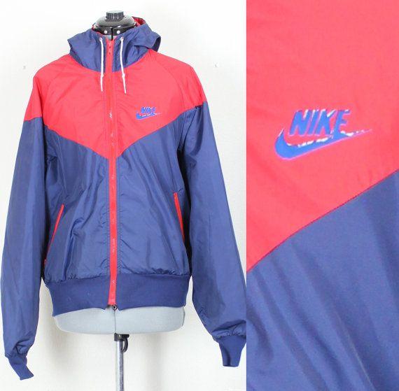 Vintage Blue and Red Nike Zip Up Jacket ehSJPLIDr