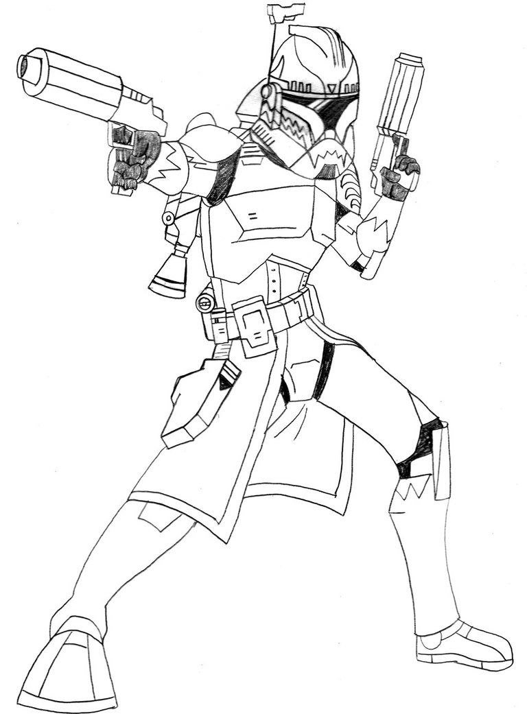 Commander Wolffe Lines Coloring Pages For Kids Coloring Pages Star Wars Colors