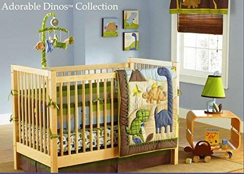 Md Baby Boy Dinosaur 7 Pieces Nursery Crib Bedding Set With Per