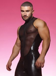 That latex bodybuidler suit confirm. join