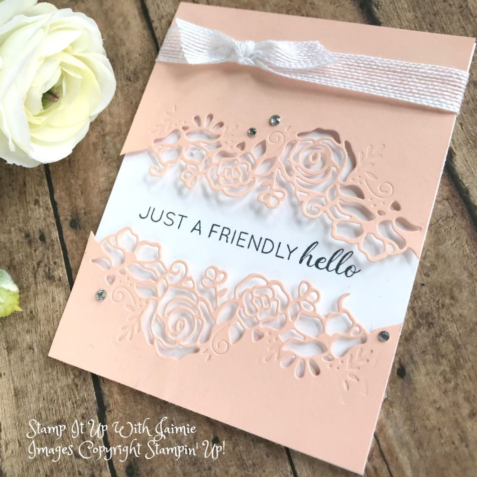 Stampin' Up! *NEW Lovely Flowers Framelits Card – Stamp It Up with Jaimie    Stamping up cards, Handmade cards stampin up, Stampin up cards