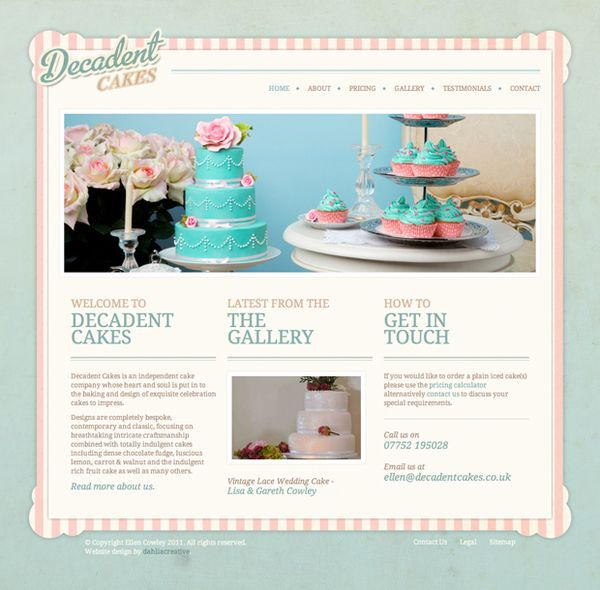 wedding cake brochure templates decadent cakes brochure website by simon sturgess via 22105