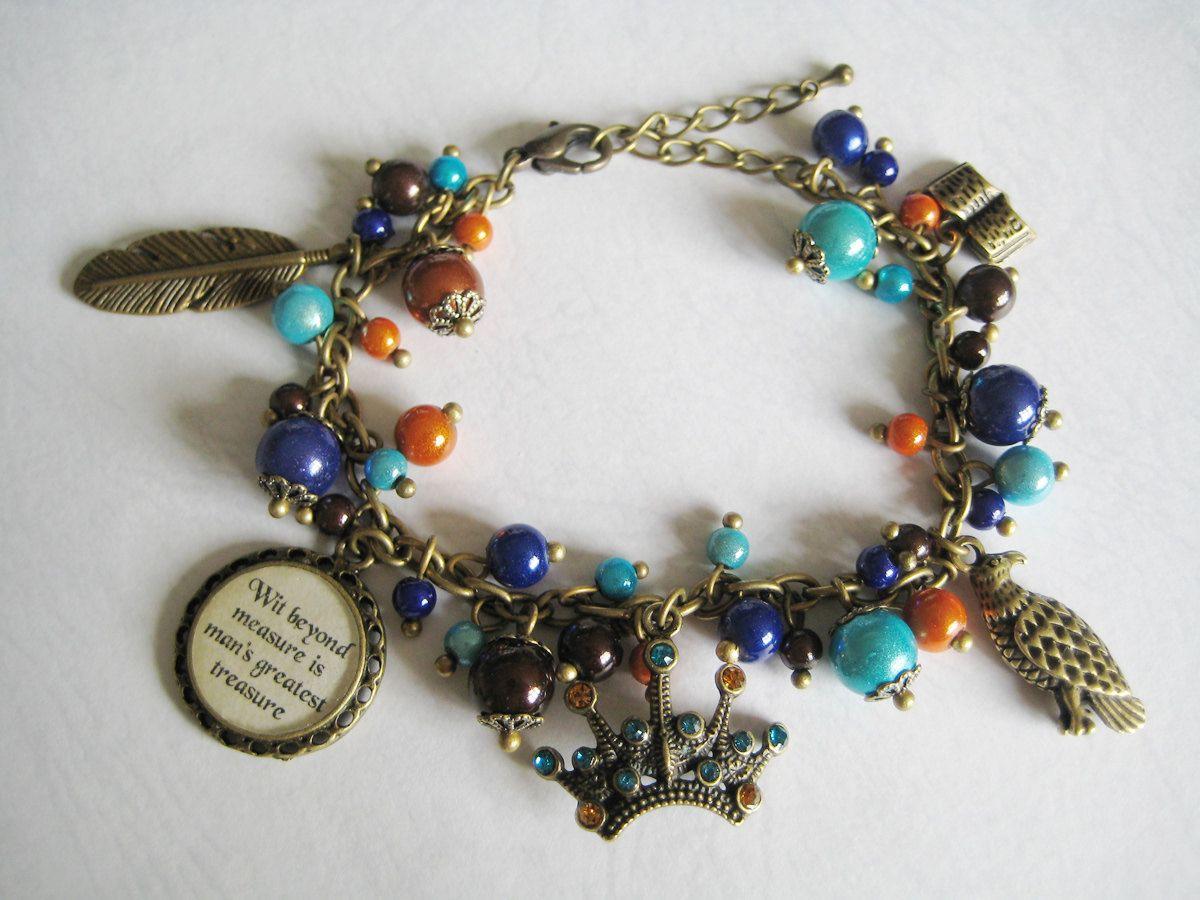 Ravenclaw Bracelet Bronze version by CissyPixie on Etsy, $16.00. So cute!!!