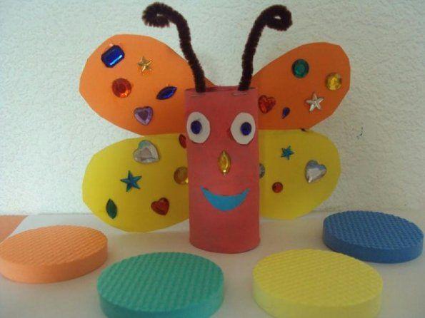 realiser un papillon avec rouleau papier toilette 4 printemps pinterest rouleau papier. Black Bedroom Furniture Sets. Home Design Ideas